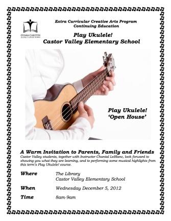 Play Ukulele! Open House